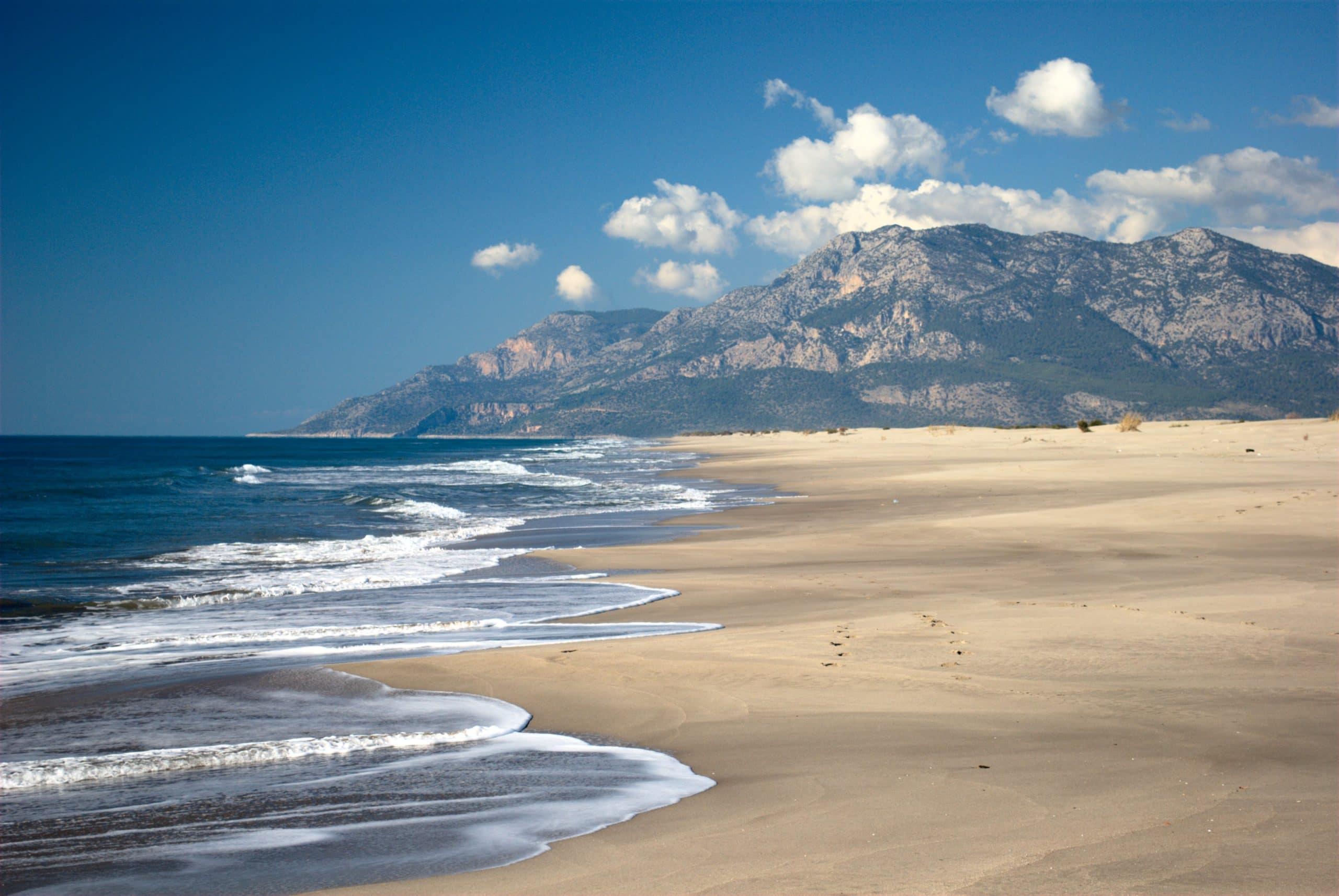 Patara Beach is Turkey's longest beach with a 12-miles (18-kilometer) impressive sand