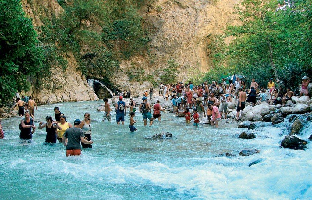 Saklıkent Kanyonu (Hidden City Canyon) is a famous touristic spot