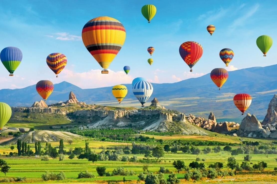Cappadocia is in the southwest of the major city Kayseri