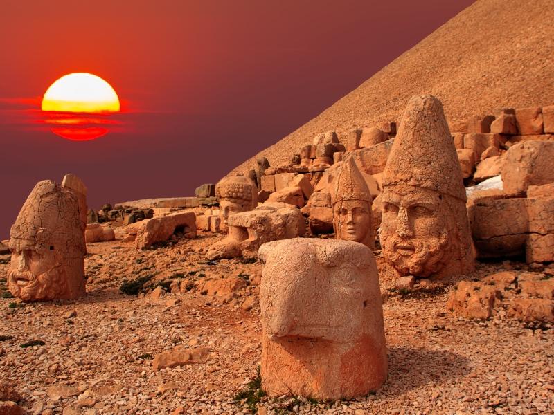 Sunset at Nemrut Mountain