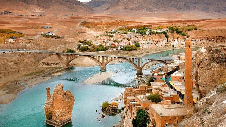 It is located between Mardin and Batman, eastern cities of Turkey