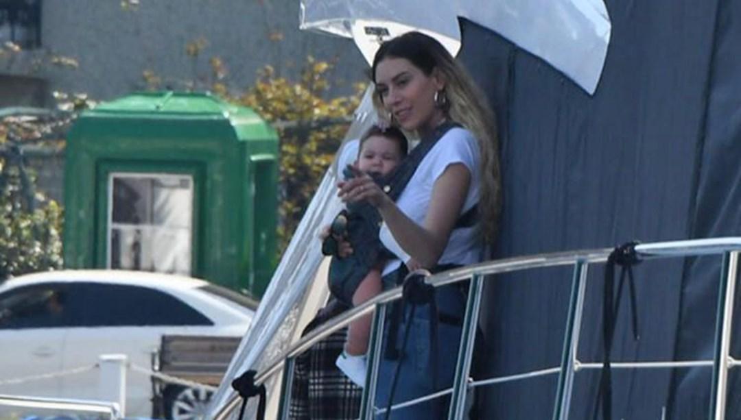 Sinem Kobal and her daughter baby girl Lalin