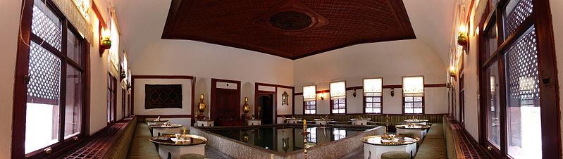 The pool inside the Safranbolu Asmazlar Konağı