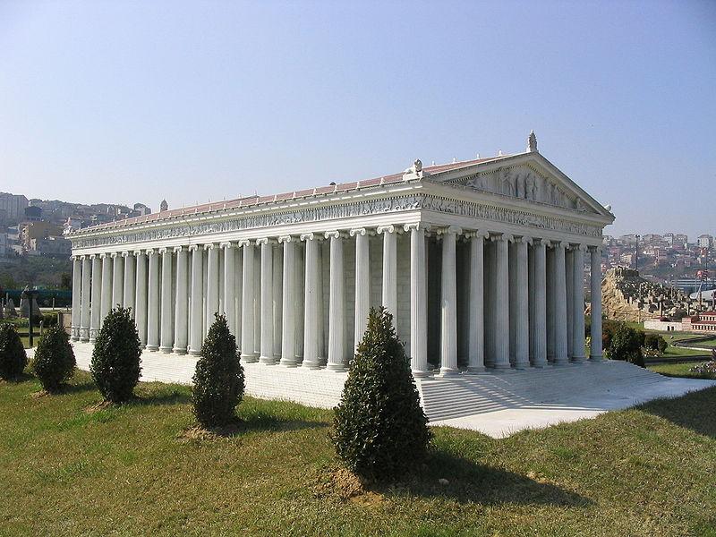 Temple of Artemis replica in Miniaturk - İstanbul
