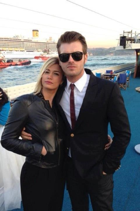 Kıvanç Tatlıtuğ with his sister Melisa