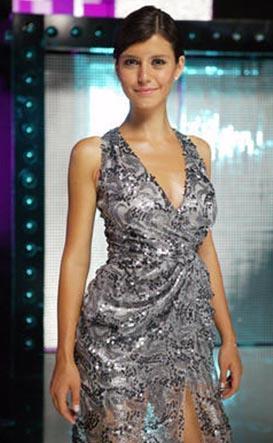 Beren Saat in a grey dress