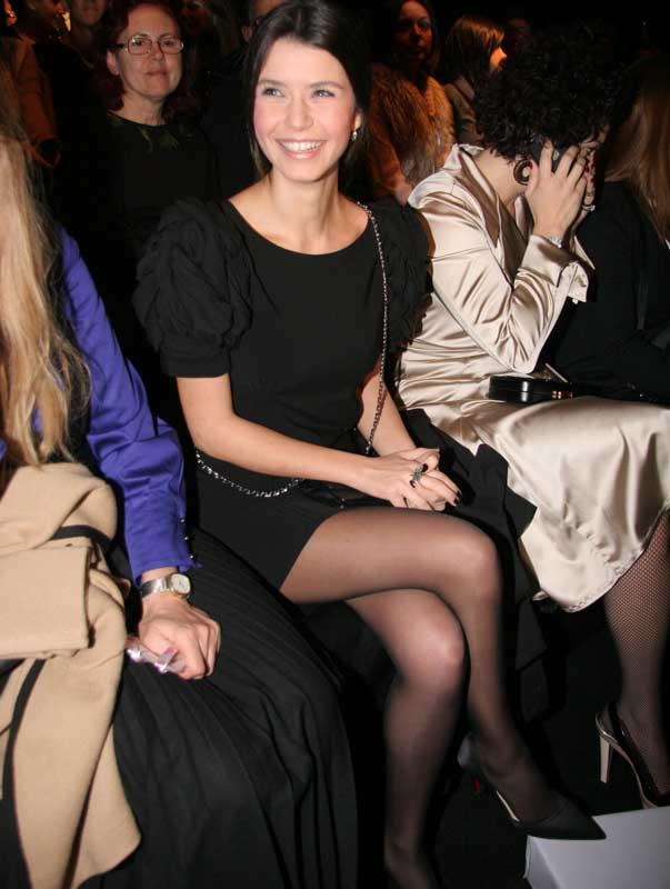 Beren Saat in with super mini skirt