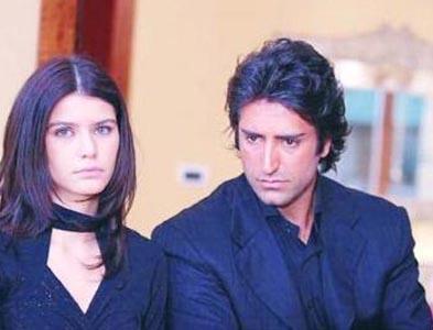 Beren Saat with Mahsun Kırmızıgül in her first tv series - Aşka Sürgün(Exile to Love)