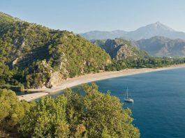 Olympos Beach lies in front of Çıralı