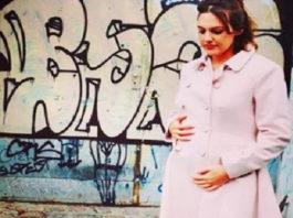 Meryem Uzerli .65 months pregnant