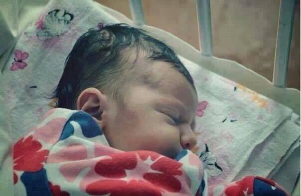 Meryem Uzerli's baby Lara Uzerli's first photos