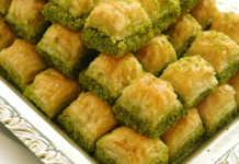Traditional Baklava stuffed with pistachio