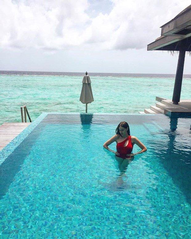 Fahriye Evcen's honeymoon sharing in Maldives