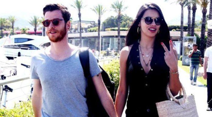 Metin Hara and his lover Adriana Lima
