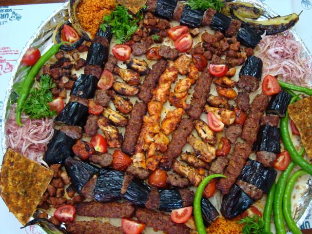Mixed Shis Kebabs -Lamb -Adana -Chicken and Aubergine Kebabs