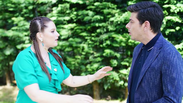 Beste Güneş, played by Elçin Afacan and her boyfriend Erdem Beyaz, played by Alper Saldıran