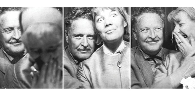 Nazım Hikmet Ran and his love Vera Tulyakova...