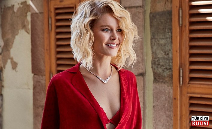Burcu Biricik is the perfect combination of red and yellow