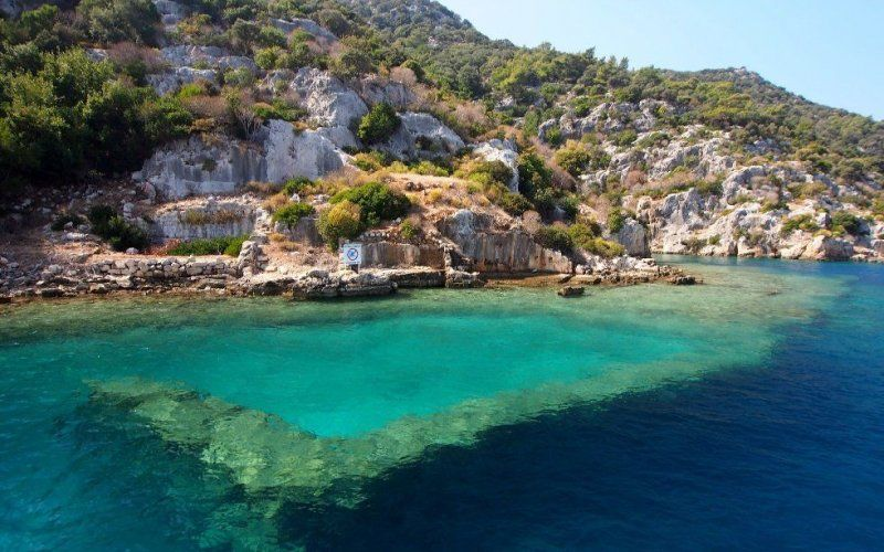 Kekova Island will definitely amaze you with underwater ruins