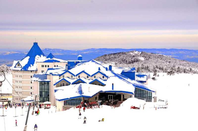 Uludağ Ski Resort is located in Bursa, very close destination to Istanbul