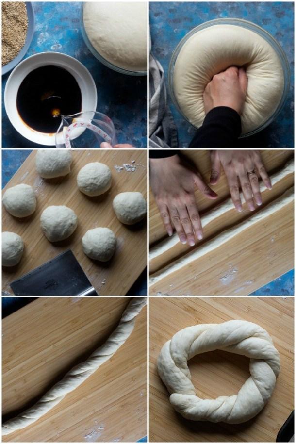 Simit also famous as Turkish bagel, Gevrek or Koulouri