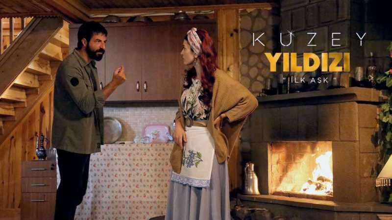Ismail Demirci (acted as Kuzey) and Aslıhan Guner (acted as Yıldız) in Northern Star TV show