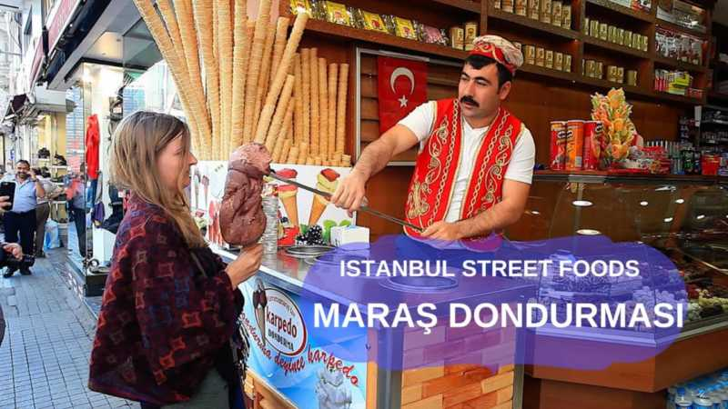Turkish Maras Ice Cream dates back in 16th century in Maras city of Turkey.