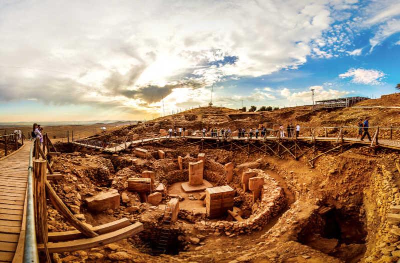 Göbeklitepe historical ruins of Turkey is the world's oldest temple.