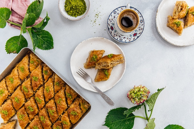 Turkish baklava is probably the number one which comes to mind about Turkey.