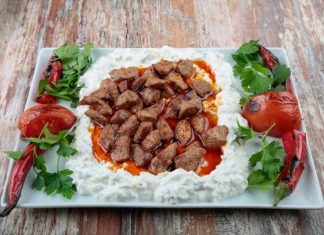 Ali Nazik Kebab is one of the best kebab of Turkish cuisine.