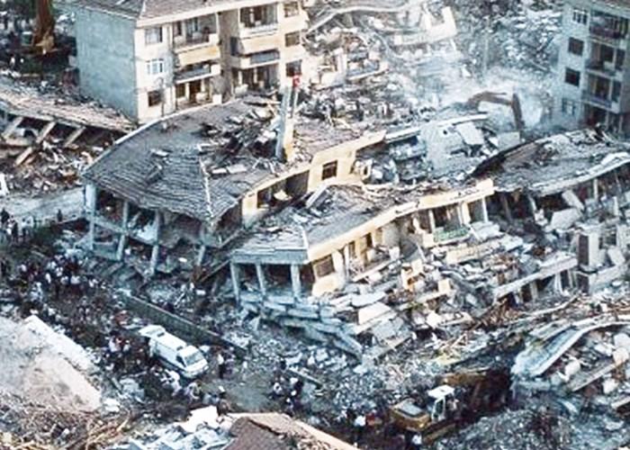 The tragic Marmara Earthquake, 1999 in Turkey.