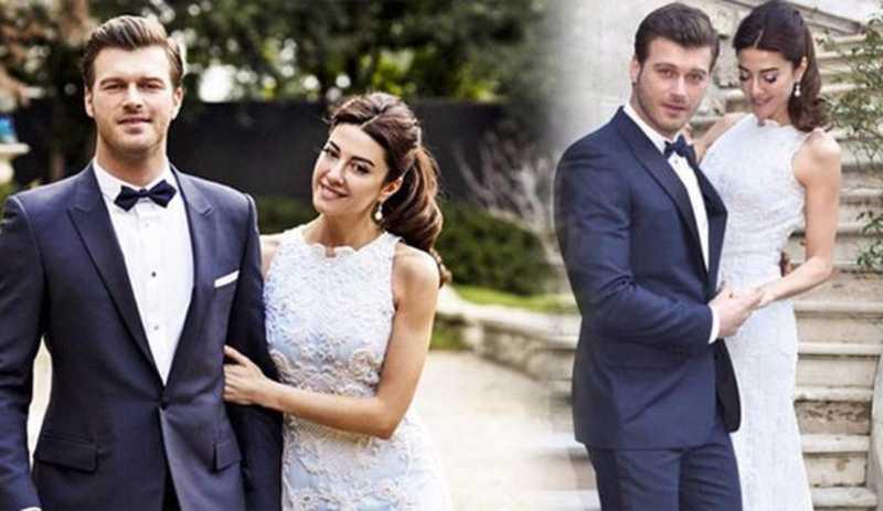 Kıvanç Tatlıtuğ and her wife Başak Dizer.