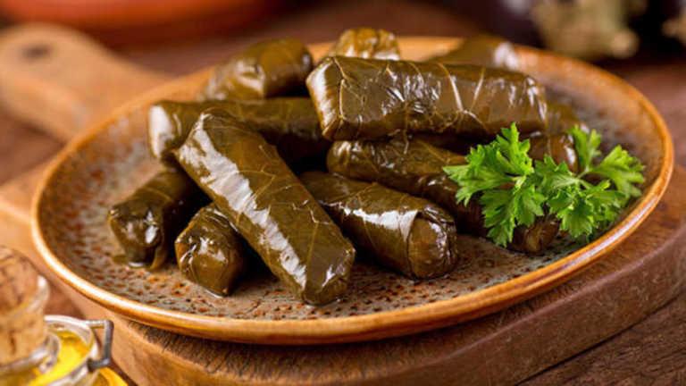 "Savory Turkish ""Dolma"" — Stuffed Grape Leaves Recipe"