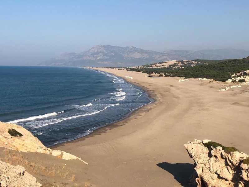 The magnificent Patara beach...