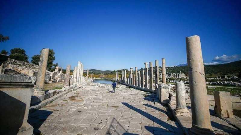 The Agora of Patara Ancient city.