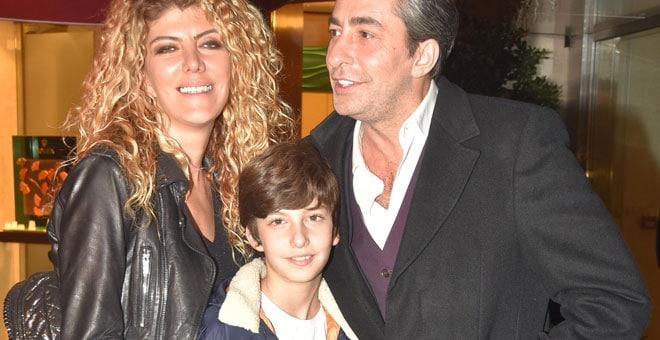 Erkan Petekkaya, his wife Didem Petekkaya and their son Cem Cano.