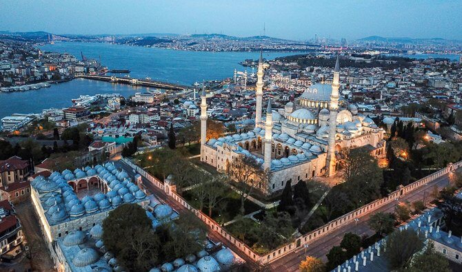 Social distancing causes unusual views in Ramadan in Turkey during (Image Credit-Arab News)
