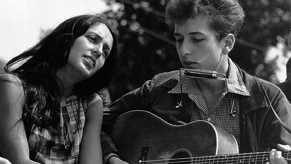 Joan Baez and Bob Dylan. (Image Credit-BBC)