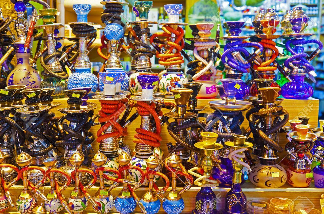 Nargile Pipes or Hookah maintains its popularity in Istanbul. (Image Credit-123RF)