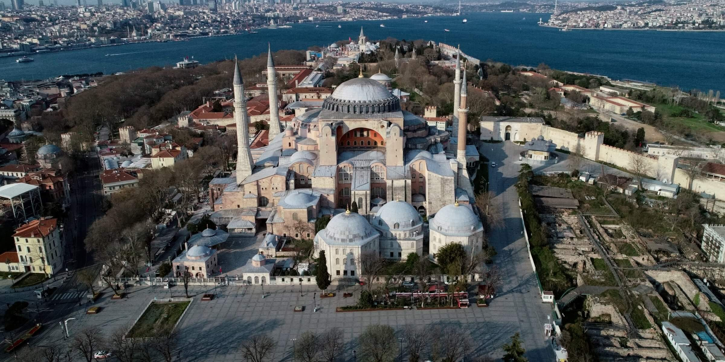 The construction of this iconic structure in Istanbul started in 532 AD during the reign of Justinian I. (Image Credit-Daily Sabah)