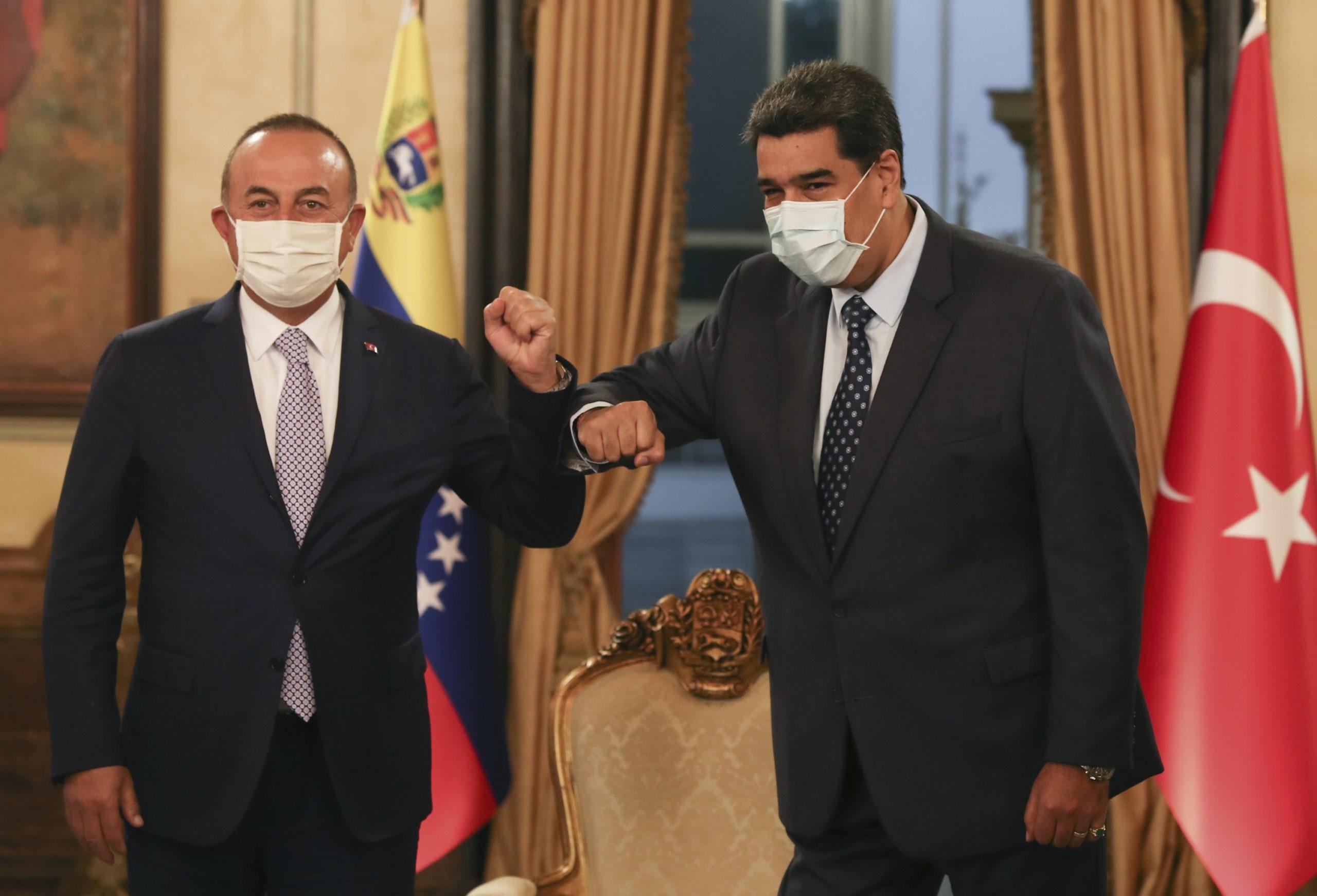 Turkish Foreign Minister Mevlüt Çavuşoğlu visited Venezuelan leader earlier this week. (Image Credit-Daily Sabah)