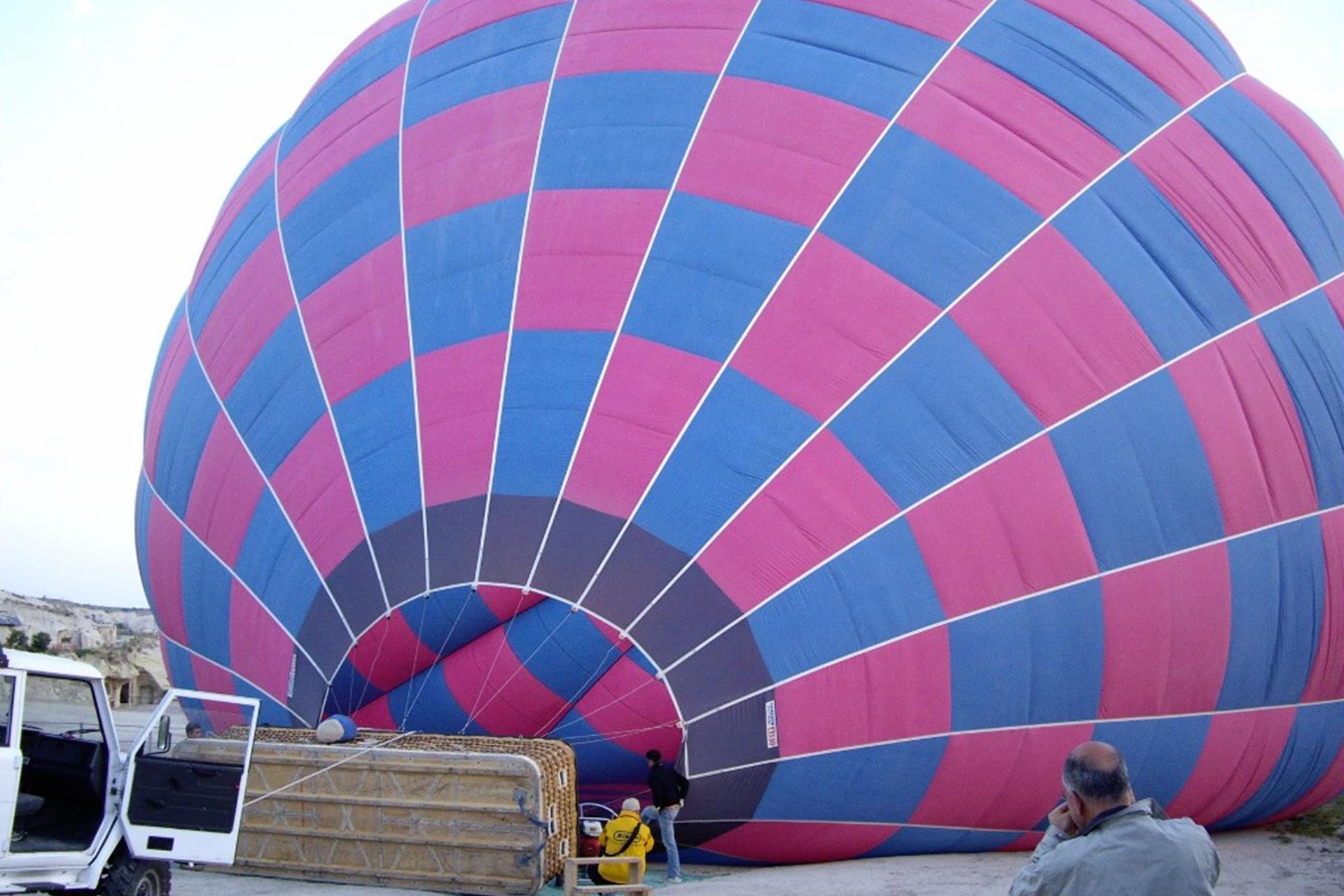 A preparation for Hot-Air Balloon Flight.