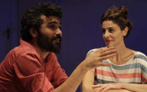 Caner Cindoruk and Ebru Özkan from a play named Pandaların Hikayesi (The Story of Pandas).