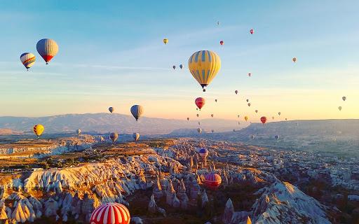 Cappadocia often offers sunrise balloon rides among fairy chimneys. (Image Credit-Cappadocia Daily Tours)