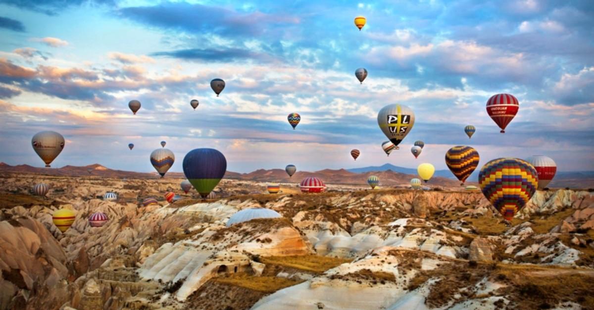 Hot-Air Balloon tour in central Turkey's Cappadocia. (Image Credit-Daily Sabah)