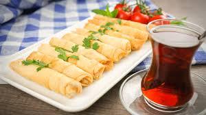 Sigara böreği or fried feta rolls is a healthy Turkish pastry.