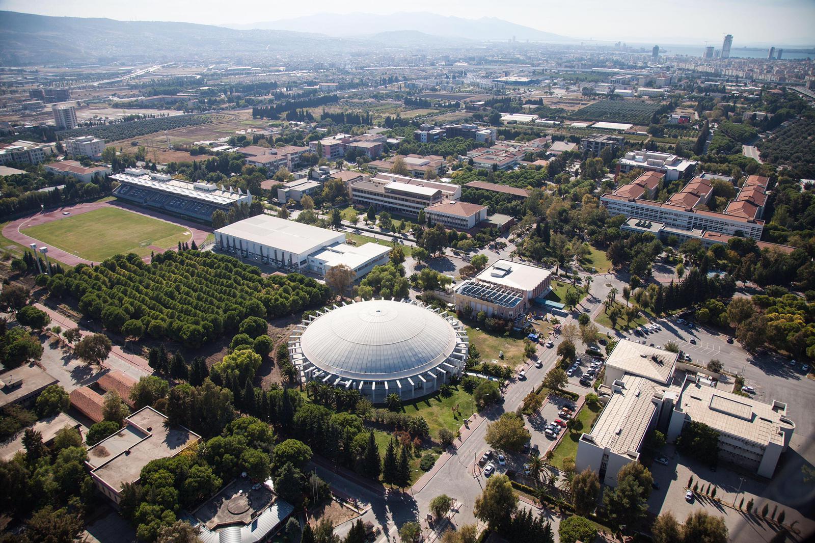 With its huge campus, Ege University, Izmir.