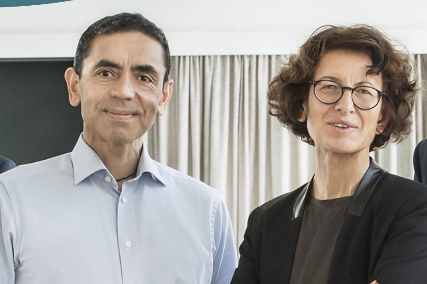 Prof Ugur Sahin (L) and Dr. Ozlem Tureci