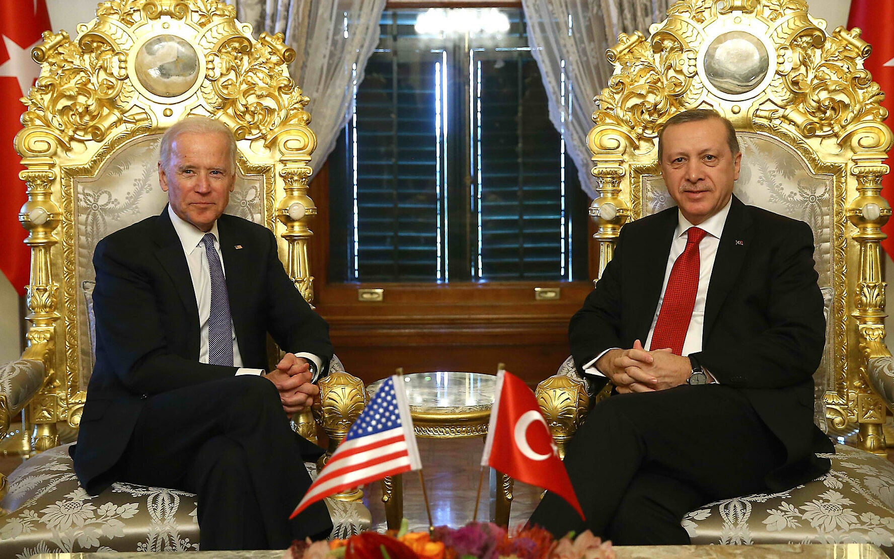 The former Vice President of Barack Obama and the President of the Republic of Turkey Recep Tayyip Erdogan