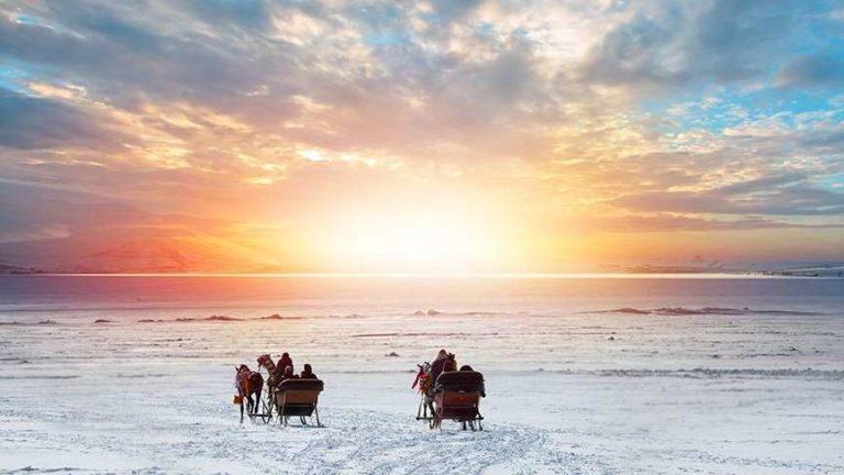 Lake Çıldır Looks Forward for Nature Lovers for Ice Cycling